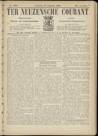 Ter Neuzensche Courant. Algemeen Nieuws- en Advertentieblad voor Zeeuwsch-Vlaanderen / Neuzensche Courant ... (idem) / (Algemeen) nieuws en advertentieblad voor Zeeuwsch-Vlaanderen 1880-08-28