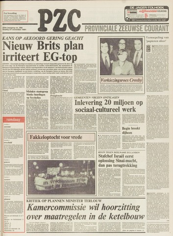 Provinciale Zeeuwse Courant 1981-11-27