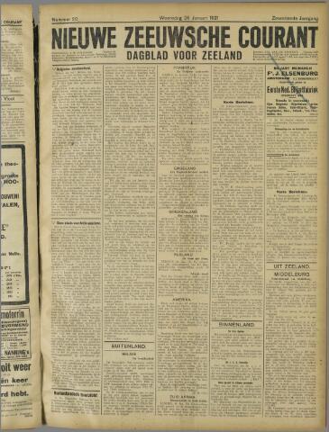 Nieuwe Zeeuwsche Courant 1921-01-26