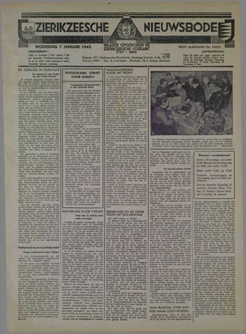 Zierikzeesche Nieuwsbode 1942-01-07
