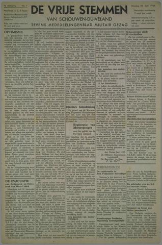 Vrije Stemmen van Schouwen-Duiveland, tevens mededeelingenblad Militair Gezag 1945-06-26