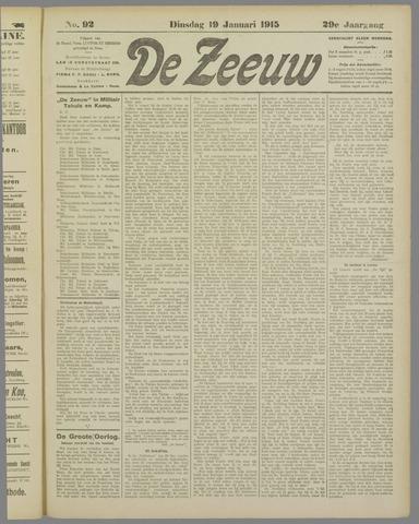 De Zeeuw. Christelijk-historisch nieuwsblad voor Zeeland 1915-01-19
