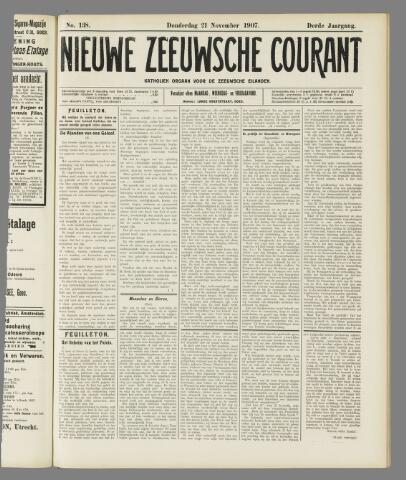 Nieuwe Zeeuwsche Courant 1907-11-21