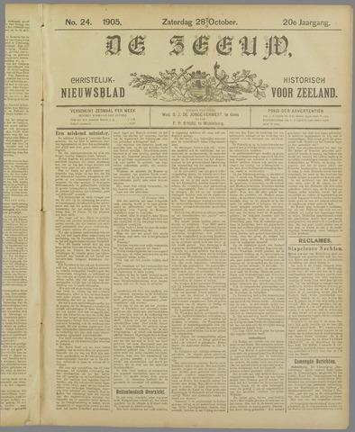 De Zeeuw. Christelijk-historisch nieuwsblad voor Zeeland 1905-10-28