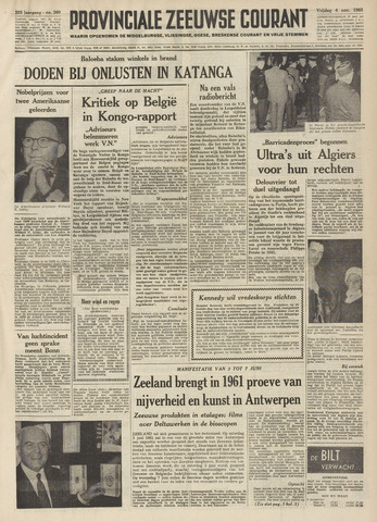 Provinciale Zeeuwse Courant 1960-11-04
