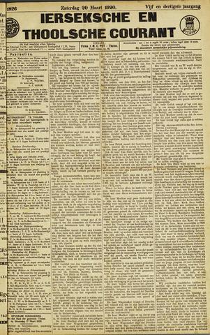 Ierseksche en Thoolsche Courant 1920-03-20