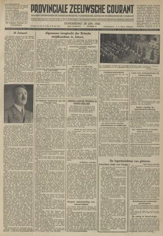 Provinciale Zeeuwse Courant 1942-01-29