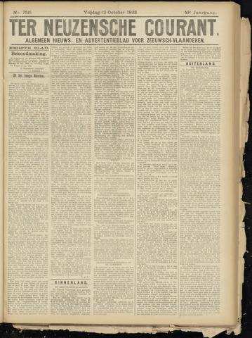 Ter Neuzensche Courant. Algemeen Nieuws- en Advertentieblad voor Zeeuwsch-Vlaanderen / Neuzensche Courant ... (idem) / (Algemeen) nieuws en advertentieblad voor Zeeuwsch-Vlaanderen 1923-10-12