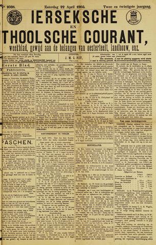 Ierseksche en Thoolsche Courant 1905-04-22
