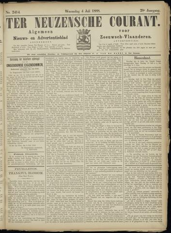 Ter Neuzensche Courant. Algemeen Nieuws- en Advertentieblad voor Zeeuwsch-Vlaanderen / Neuzensche Courant ... (idem) / (Algemeen) nieuws en advertentieblad voor Zeeuwsch-Vlaanderen 1888-07-04