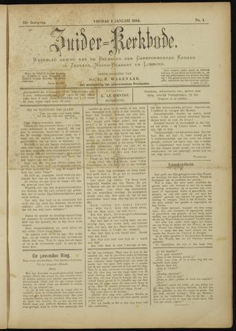 Zuider Kerkbode, Weekblad gewijd aan de belangen der gereformeerde kerken in Zeeland, Noord-Brabant en Limburg. 1904