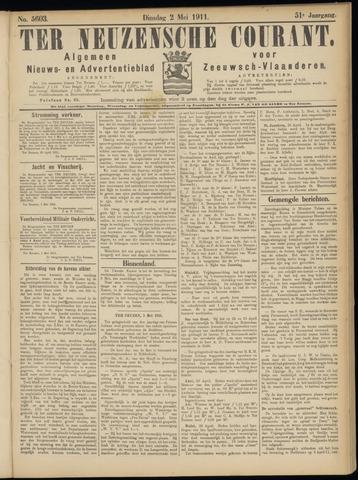 Ter Neuzensche Courant. Algemeen Nieuws- en Advertentieblad voor Zeeuwsch-Vlaanderen / Neuzensche Courant ... (idem) / (Algemeen) nieuws en advertentieblad voor Zeeuwsch-Vlaanderen 1911-05-02