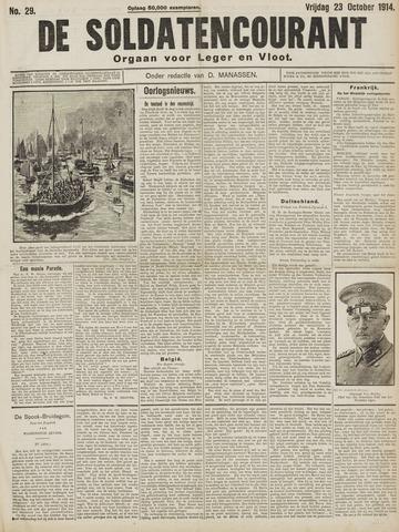 De Soldatencourant. Orgaan voor Leger en Vloot 1914-10-23