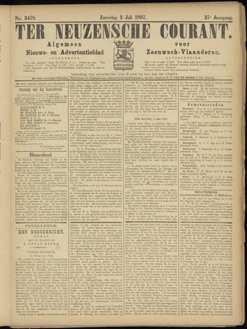 Ter Neuzensche Courant. Algemeen Nieuws- en Advertentieblad voor Zeeuwsch-Vlaanderen / Neuzensche Courant ... (idem) / (Algemeen) nieuws en advertentieblad voor Zeeuwsch-Vlaanderen 1897-07-03