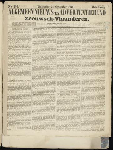 Ter Neuzensche Courant. Algemeen Nieuws- en Advertentieblad voor Zeeuwsch-Vlaanderen / Neuzensche Courant ... (idem) / (Algemeen) nieuws en advertentieblad voor Zeeuwsch-Vlaanderen 1866-11-21