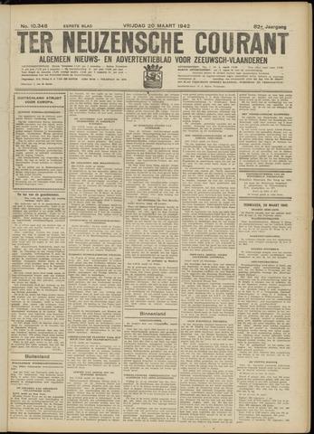 Ter Neuzensche Courant. Algemeen Nieuws- en Advertentieblad voor Zeeuwsch-Vlaanderen / Neuzensche Courant ... (idem) / (Algemeen) nieuws en advertentieblad voor Zeeuwsch-Vlaanderen 1942-03-20