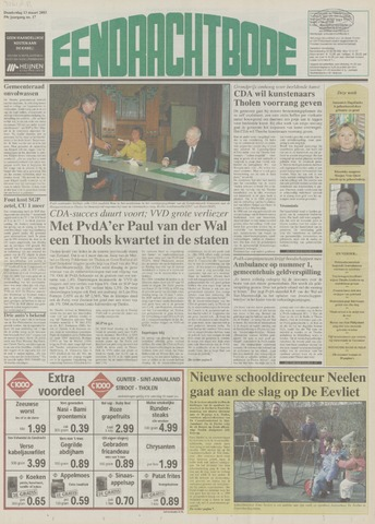 Eendrachtbode (1945-heden)/Mededeelingenblad voor het eiland Tholen (1944/45) 2003-03-13