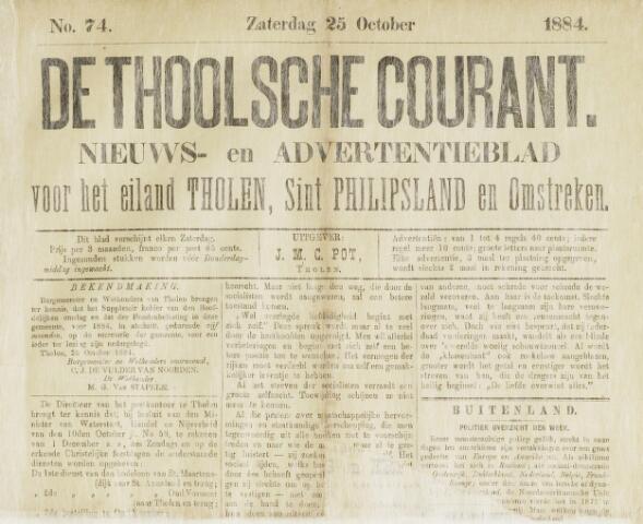 Ierseksche en Thoolsche Courant 1884-10-25