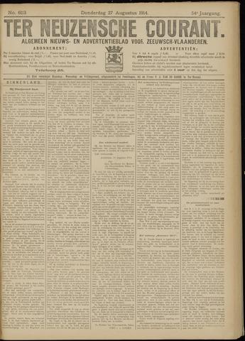 Ter Neuzensche Courant. Algemeen Nieuws- en Advertentieblad voor Zeeuwsch-Vlaanderen / Neuzensche Courant ... (idem) / (Algemeen) nieuws en advertentieblad voor Zeeuwsch-Vlaanderen 1914-08-27