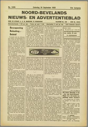 Noord-Bevelands Nieuws- en advertentieblad 1950-09-30