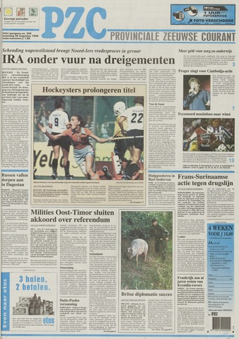 Provinciale Zeeuwse Courant 1999-08-30