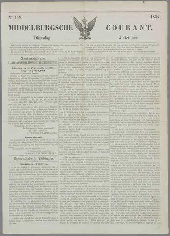 Middelburgsche Courant 1854-10-03