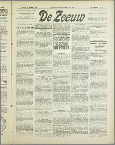 De Zeeuw. Christelijk-historisch nieuwsblad voor Zeeland 1934-12-29