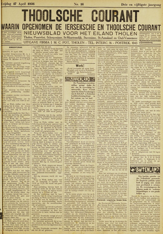 Ierseksche en Thoolsche Courant 1936-04-17