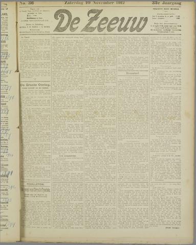 De Zeeuw. Christelijk-historisch nieuwsblad voor Zeeland 1917-11-10