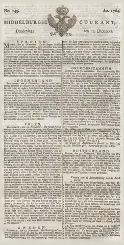 Middelburgsche Courant 1764-12-13