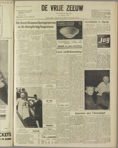 de Vrije Zeeuw 1962-04-26