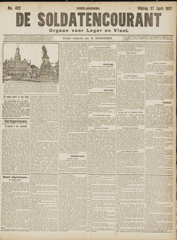 De Soldatencourant. Orgaan voor Leger en Vloot 1917-04-27