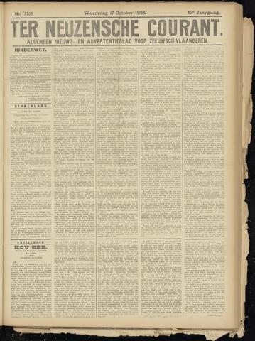 Ter Neuzensche Courant. Algemeen Nieuws- en Advertentieblad voor Zeeuwsch-Vlaanderen / Neuzensche Courant ... (idem) / (Algemeen) nieuws en advertentieblad voor Zeeuwsch-Vlaanderen 1923-10-17