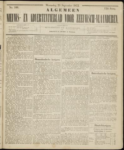 Ter Neuzensche Courant. Algemeen Nieuws- en Advertentieblad voor Zeeuwsch-Vlaanderen / Neuzensche Courant ... (idem) / (Algemeen) nieuws en advertentieblad voor Zeeuwsch-Vlaanderen 1872-09-25