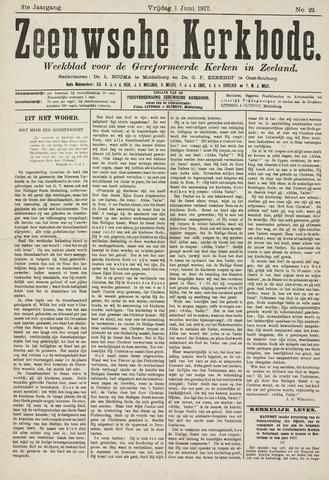 Zeeuwsche kerkbode, weekblad gewijd aan de belangen der gereformeerde kerken/ Zeeuwsch kerkblad 1917-06-01