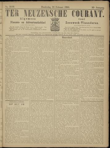 Ter Neuzensche Courant. Algemeen Nieuws- en Advertentieblad voor Zeeuwsch-Vlaanderen / Neuzensche Courant ... (idem) / (Algemeen) nieuws en advertentieblad voor Zeeuwsch-Vlaanderen 1895-02-21
