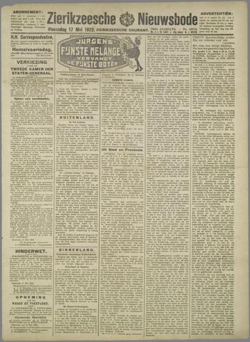 Zierikzeesche Nieuwsbode 1922-05-17