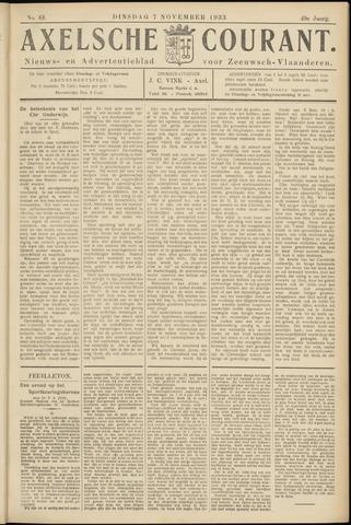Axelsche Courant 1933-11-07