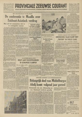 Provinciale Zeeuwse Courant 1954-09-07