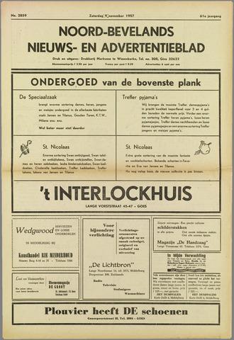 Noord-Bevelands Nieuws- en advertentieblad 1957-11-09