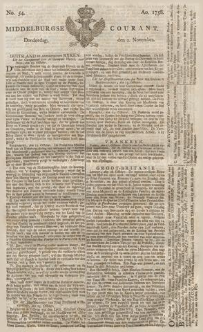 Middelburgsche Courant 1758-11-02