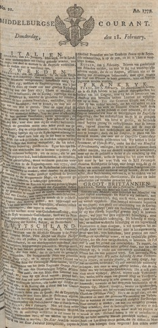 Middelburgsche Courant 1779-02-18