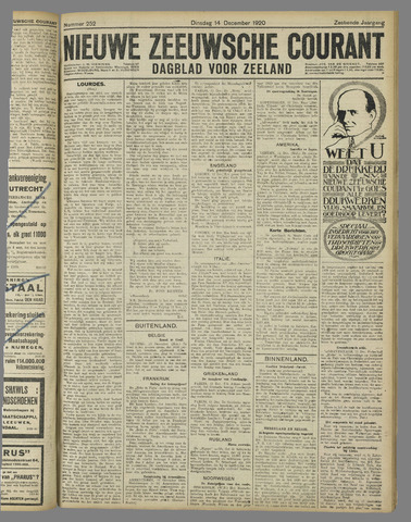 Nieuwe Zeeuwsche Courant 1920-12-14