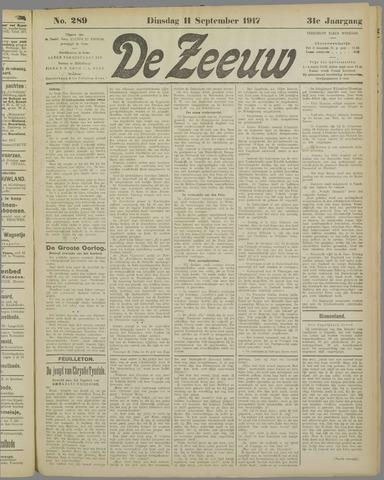 De Zeeuw. Christelijk-historisch nieuwsblad voor Zeeland 1917-09-11