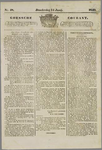 Goessche Courant 1849-06-14