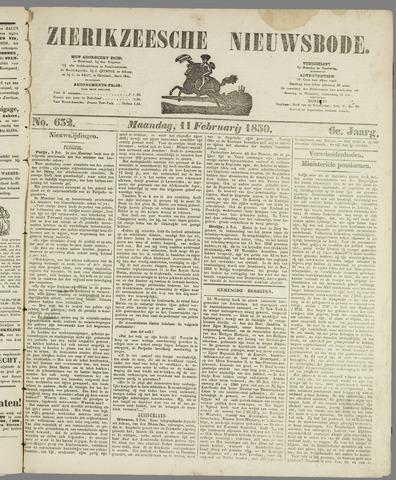Zierikzeesche Nieuwsbode 1850-02-11