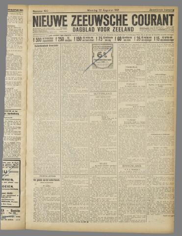 Nieuwe Zeeuwsche Courant 1921-08-22