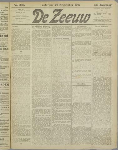 De Zeeuw. Christelijk-historisch nieuwsblad voor Zeeland 1917-09-29
