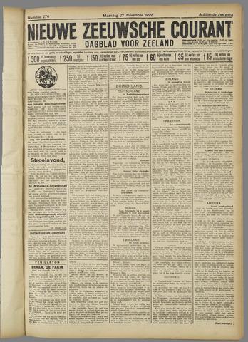Nieuwe Zeeuwsche Courant 1922-11-27