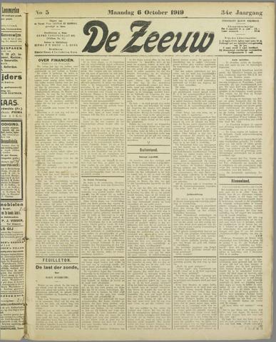 De Zeeuw. Christelijk-historisch nieuwsblad voor Zeeland 1919-10-06